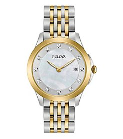 Bulova® Women's Two Tone Diamond Watch