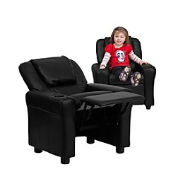 Flash Furniture Contemporary Leather Kids Recliner with Headrest