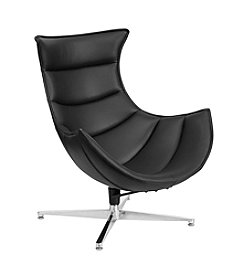 Flash Furniture Leather Swivel Cocoon Chair