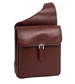 Siamod Sabotino Leather Vertical Messenger Bag