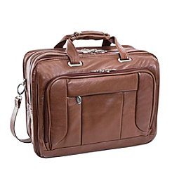 McKlein West Town Leather Fly-Through Checkpoint-Friendly Detachable-Wheeled Laptop Case