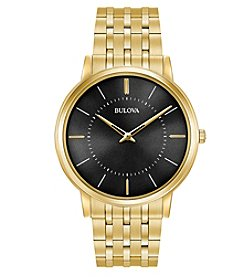 Bulova® Men's Classic Ultra-Slim Stainless Steel Watch