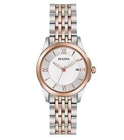 Bulova® Women's Classic Two-Tone Mother Of Pearl Dial Watch