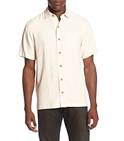 Paradise Collection ® Men's Solid Cream Button Silk Down Shirt