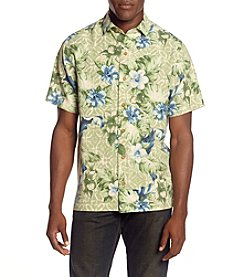 Paradise Collection® Men's Hibiscus Button Down Silk Shirt