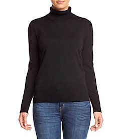 Cupio® Button Sleeve Turtleneck