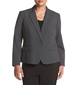 Nine West ® Plus Size Solid One Button Jacket