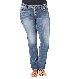 Silver Jeans Co. Plus Size Suki Mid Rise Medium Wash Slim Bootcut Jeans