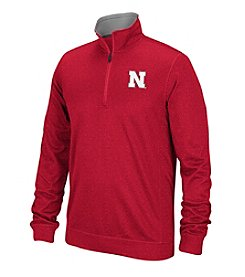 adidas® NCAA® University Of Nebraska Men's Preferred Patch 1/4 Zip Pullover