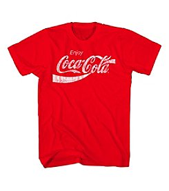 Mad Engine Men's Big & Tall Short Sleeve Coca Cola Tee