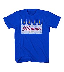 Mad Engine Men's Big & Tall Short Sleeve Hamms Beer Logo Tee