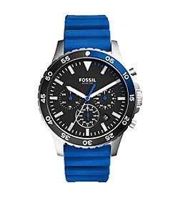 Fossil® Men's Crewmaster Sport Chronograph Silicone Watch