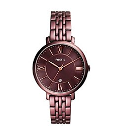 Fossil® Women's 36mm Jacqueline Wine Stainless Steel Watch