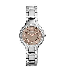 Fossil® Women's 30mm Virginia Collection Three-Hand Stainless Steel Watch