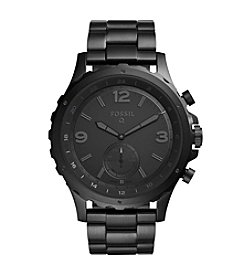 Fossil® Hybrid Smartwatch - Q Nate Black Stainless Steel
