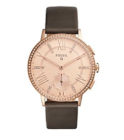 Fossil® Hybrid Smartwatch - Q Gazer Gray Leather