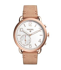 Fossil® Hybrid Smartwatch - Q Tailor Light Brown Leather
