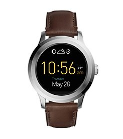 Fossil® Q Founder 2.0 Touchscreen Leather Strap Smartwatch