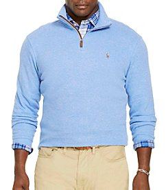 Polo Ralph Lauren® Men's Big & Tall Long Sleeve Lightweight French Rib 1/4 Zip Pullover