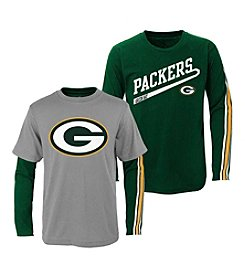 adidas® NFL® Green Bay Packers Boys' 2T-4T Squad 2-For-1 Tee