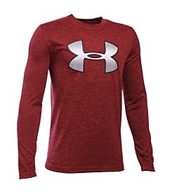 Under Armour® Boys' 8-20 Novelty Big Logo Long Sleeve Tee