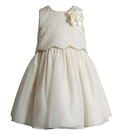 Sweet Heart Rose® Girls' 2T-6X Glitter Rose Bodice Dress