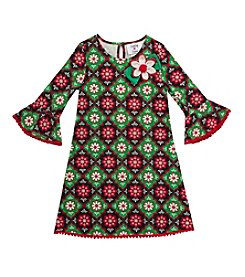 Rare Editions® Girls' 2T-6X Geo Daisies Dress
