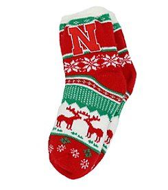 ZooZatZ™ NCAA® Nebraska Cornhuskers Women's Holiday Socks