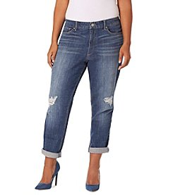 Vintage America Blues™ Plus Size Gratia Distressed Boyfriend Jeans
