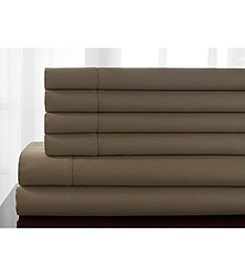 Elite Home Products Delray Hemstitch 600-Thread Count Rich Sheet Set