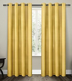 Exclusive Home Chevron Blackout Thermal Grommet Window Curtains