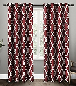 Exclusive Home Ironwork Blackout Thermal Grommet Window Curtains
