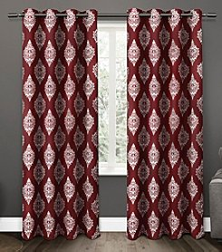 Exclusive Home Medallion Blackout Thermal Grommet Window Curtains