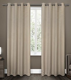 Exclusive Home Melrose Blackout Thermal Grommet Window Curtains