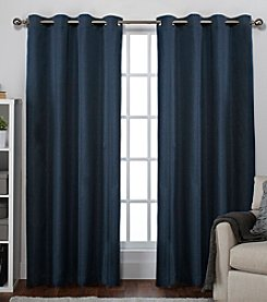 Exclusive Home Raw Silk Thermal Grommet Window Curtains