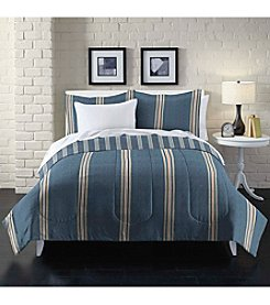 Loft Style® Heathered Stripe Comforter Set