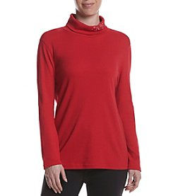 Studio Works® Embroidered Turtleneck Top