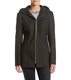 London Fog® Hooded Zip Front Coat