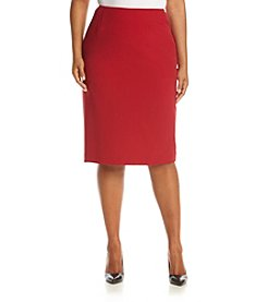 Kasper® Plus Size Solid Skirt