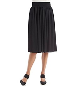 Laura Ashley® Petites' Solid Skirt