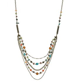 Ruff Hewn Multi Bead Necklace