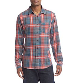 Ocean Current® Men's Freemont Plaid Burnout Flannel Button Down Shirt