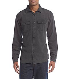 Ocean Current® Men's Solid Burnout Flannel Button Down Shirt