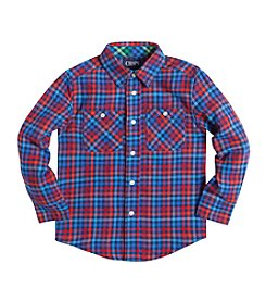 Chaps® Boys' 2T-7 Long Sleeve Flannel Shirt
