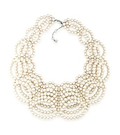 Carolee® Faux Pearl Statement Collar Necklace