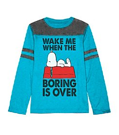 Peanuts® Boys' 8-20 When Boring Is Over Tee