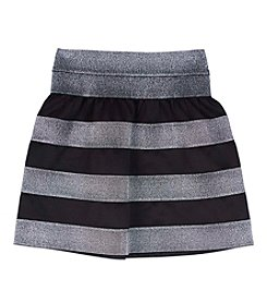 Amy Byer Girls' 7-16 Metallic Striped Skater Skirt