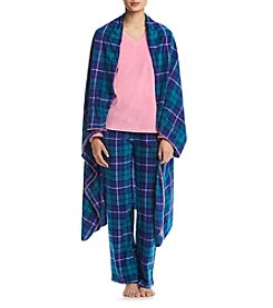 PJ Couture® Fleece Pajama And Blanket Set