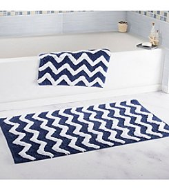 Lavish Home 2-pc. Chevron Bathroom Mat Set