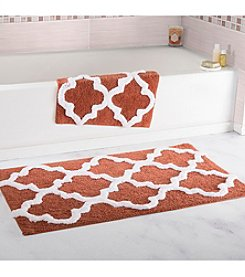 Lavish Home 2-pc. Trellis Bathroom Mat Set
